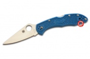 Складной нож Spyderco Delica Flat Ground Blue C11FPBL
