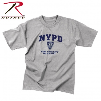 Футболка с к/р., светло-серая «official licensed NYPD»(офиц. эмблема полиции Н.-Йорка)