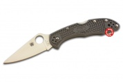 Складной нож Spyderco Delica Flat Ground Grey C11FPGY